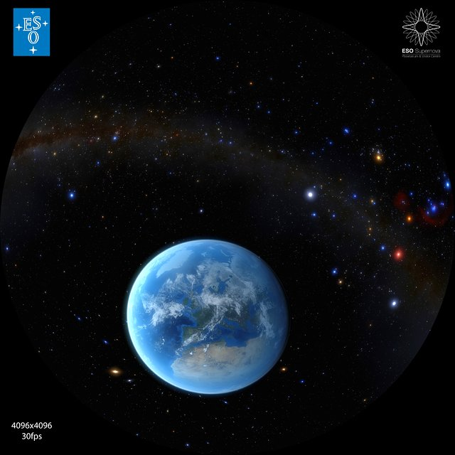 Zooming in on the Earth (fulldome)