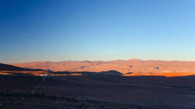 Shadows creep over the Atacama