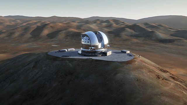 Bird's eye view of the ELT (artist's impression)