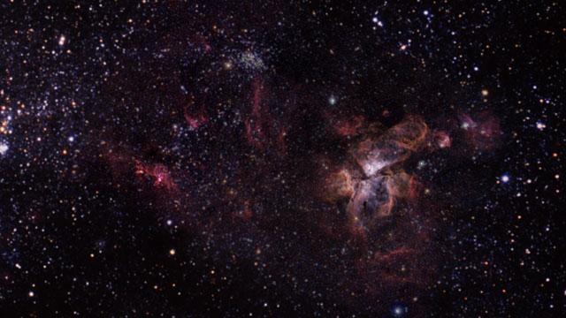 Zoom hacia la Nebulosa Carina
