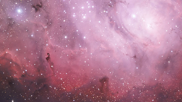 Pan over the Lagoon Nebula