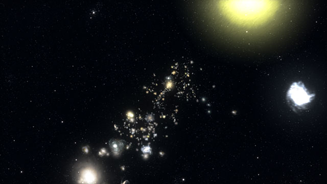Galaxy structure seven billion light-years away