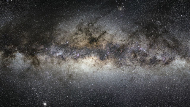 Zooming in on VISTA's view of the centre of the Milky Way