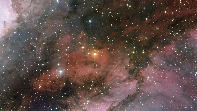 Recorrido a través de la nebulosa Carina alrededor de la estrella Wolf–Rayet WR 22