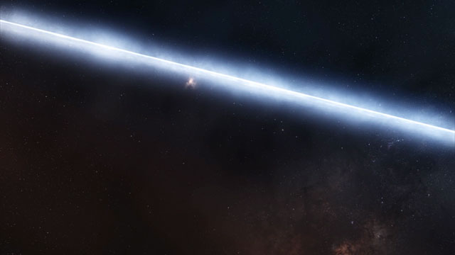Flying around the young star T Cha (artist's impression)
