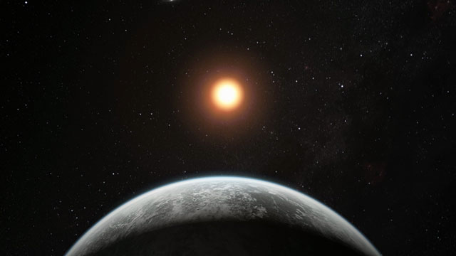 Animation of artist's impression of the super-Earth planet HD 85512 b