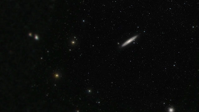 Zooming in on NGC 253