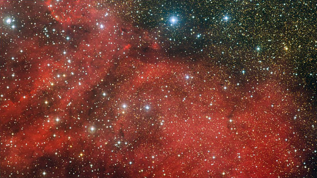 Panning across the region of the star cluster NGC 6604