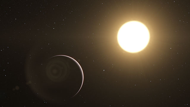 Artist's impression of the famous exoplanet Tau Boötis b