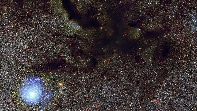Panning across the dark nebula Barnard 59