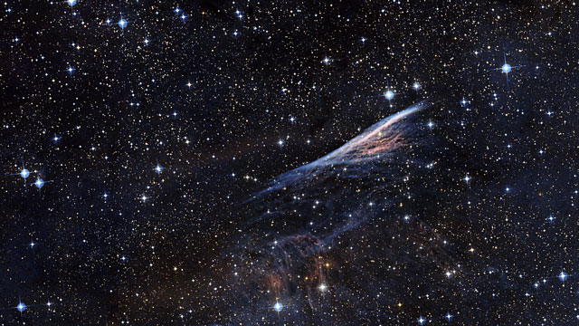 Zooming in on the Pencil Nebula