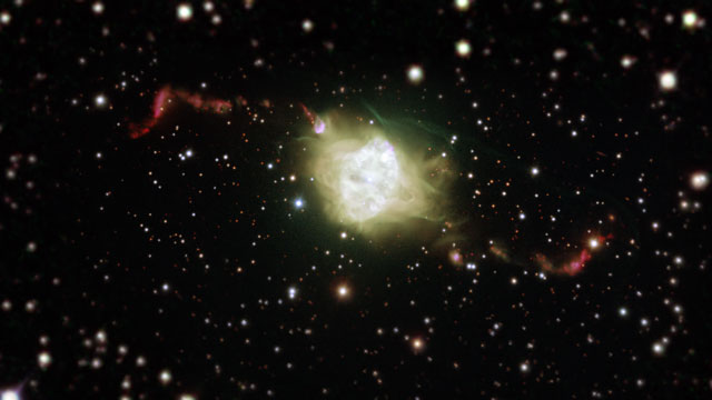 Zooming in on the planetary nebula Fleming 1