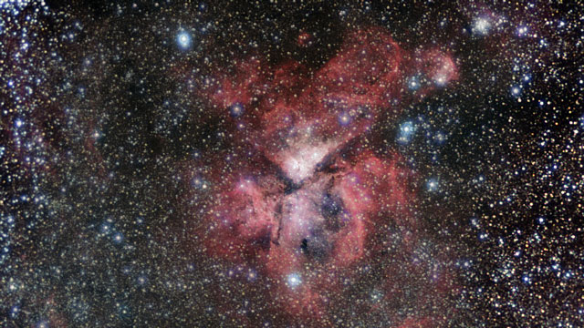 Zooming in on the Carina Nebula