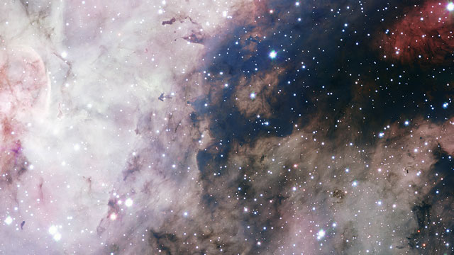 Panning across a VST image of the Carina Nebula