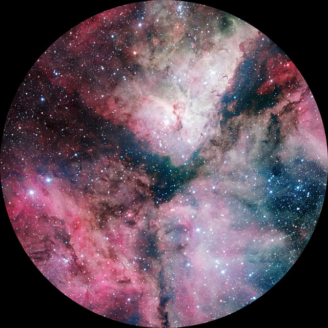 The Carina Nebula imaged by the VLT Survey Telescope (8k fulldome)