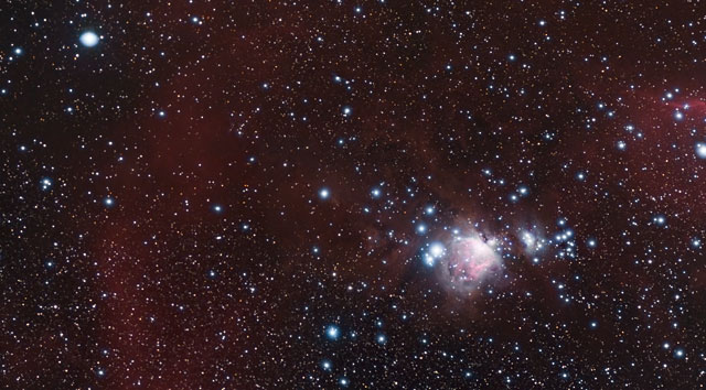 Zoom sur une vue d'APEX d'une partie de la nébuleuse d'Orion