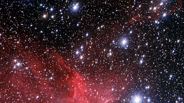 A close look at the star cluster NGC 3572 and its dramatic surroundings