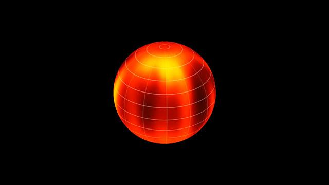 Oppervlaktekaart van Luhman 16B, gebaseerd op VLT-waarnemingen (met tekst)