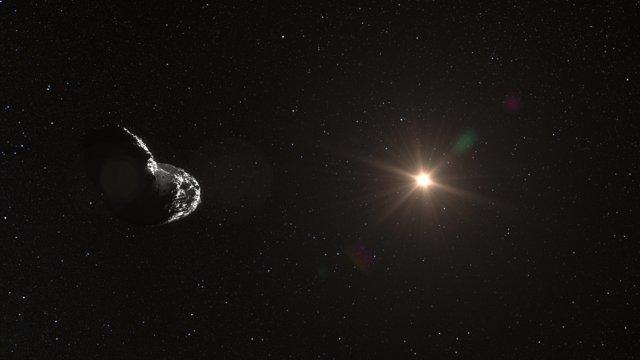 Rappresentazione artistica dell'asteroide (25143) Itokawa
