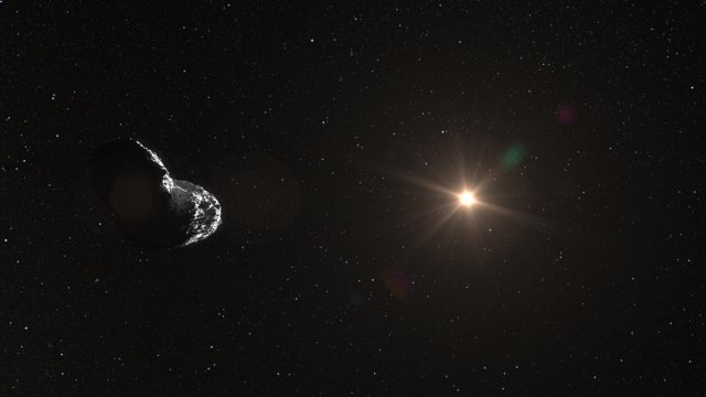 Vue d'artiste de l'astéroïde Itokawa (25143)