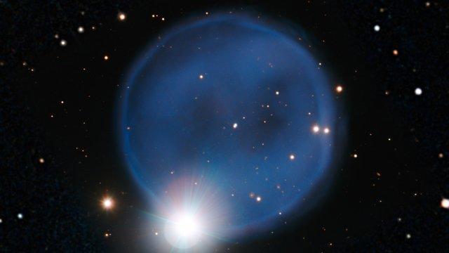 Panorering over den planetariske tåken Abell 33