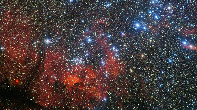 Le très coloré amas d'étoiles NGC 3590
