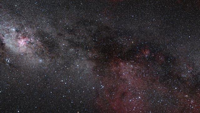 Zoom auf die Sternentstehungsregion RCW 34