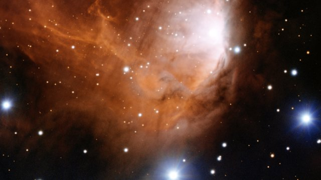 Close-up pan across the star forming cloud RCW 34