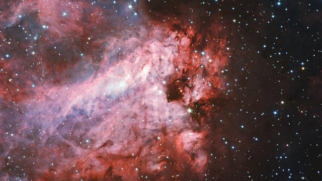Ein genauer Blick auf die Sternentstehungsregion Messier 17