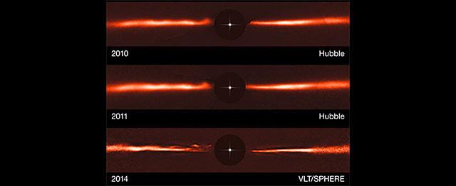 Zoom sur l'étoile proche AU Microscopii