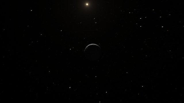 Kunstnerisk framstilling av Ceres' lyse flekker fotografert av romsonden Dawn