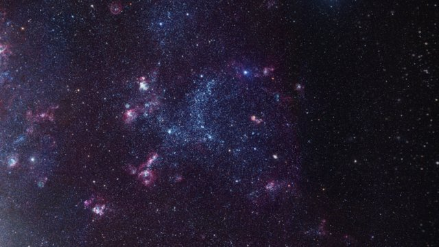 Zooming in on the glowing gas cloud LHA 120-N55 in the Large Magellanic Cloud