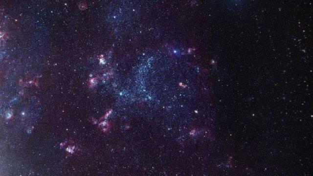Acercándonos a la nube de gas brillante LHA 120-N55, en la Gran Nube de Magallanes