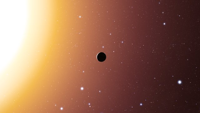Artist's impression of hot Jupiter exoplanet in the star cluster Messier 67