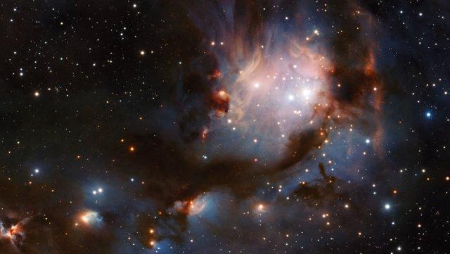 Panoramica di Messier 78 osservato da VISTA