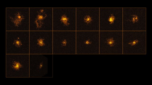 Halos brillants autour de quasars distants