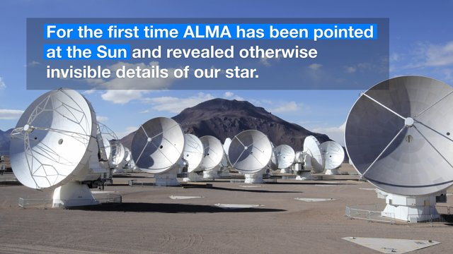 ESOcast 92 Light: ALMA Starts Observing the Sun