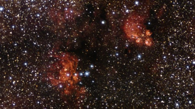 Zooming in on the Cat's Paw and Lobster Nebulae
