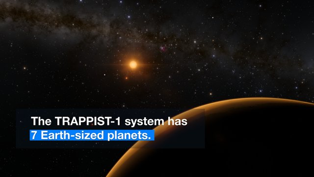 7 exoterres découvertes au sein d'un système stellaire proche
