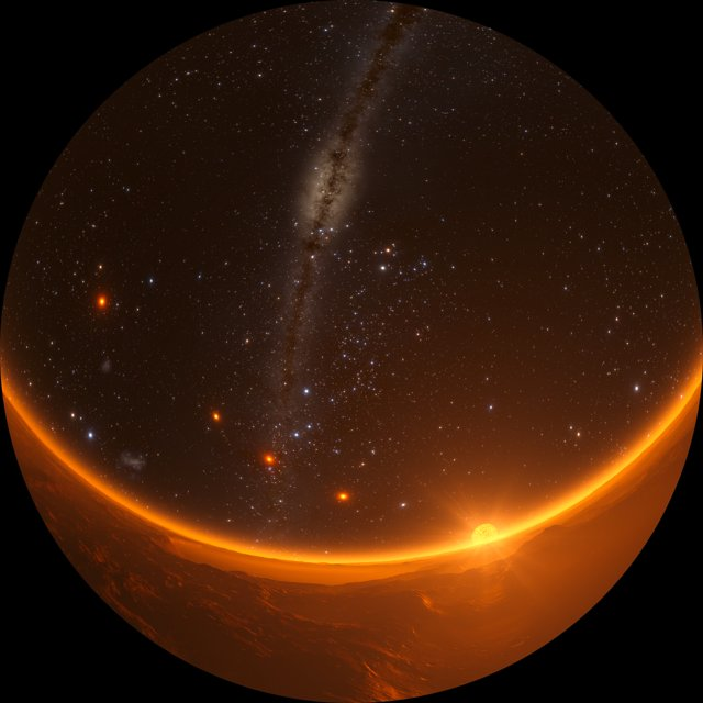 Fulldome video of the TRAPPIST-1 system