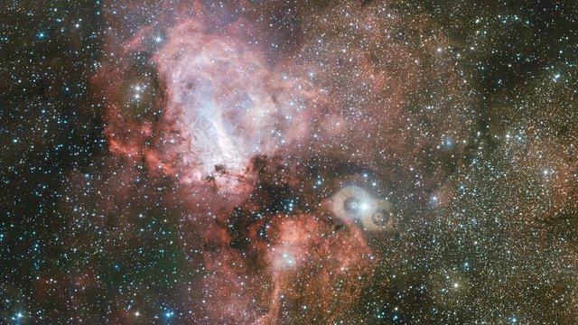 Oblast mlhoviny Omega pohledem dalekohledu VST