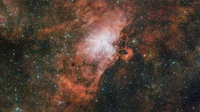 La región de la nebulosa del Águila vista por el VST