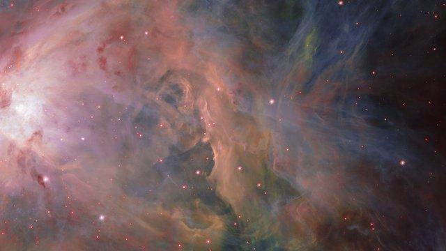 Panorámica sobre la nebulosa de Orión