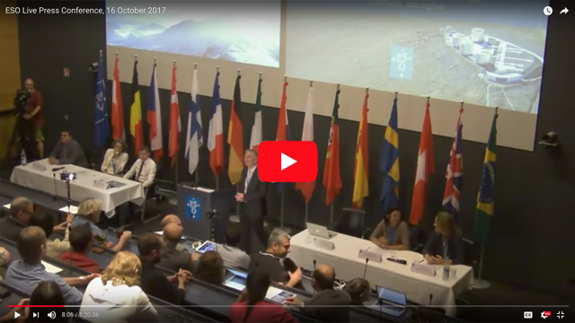 ESO Press Conference on 16 October 2017
