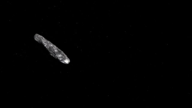 Animation of artist's concept of `Oumuamua