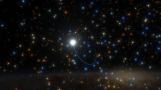 Vídeo artístico do sistema binário com um buraco negro no NGC 3201