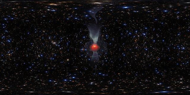 Simulatie van een superzwaar zwart gat (VR)