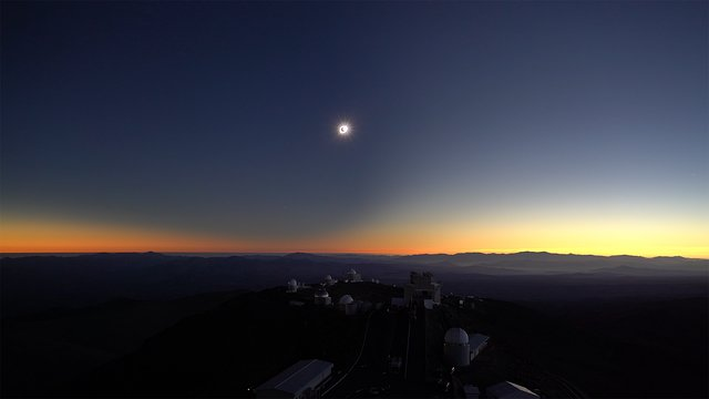 2019 total solar eclipse video, La Silla Observatory