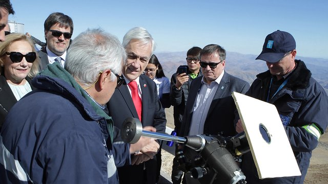 The President of the Republic of Chile at La Silla Observatory