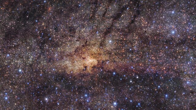 Pan across the Milky Way's central region